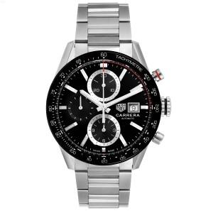 Tag Heuer Carrera Chronograph Black Dial Steel Mens Watch CBM2110 Box Card