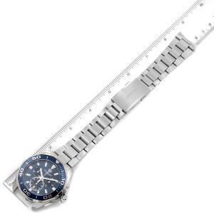 Tag Heuer Aquaracer Blue Dial Chronograph Mens Watch CAY111B Box Card