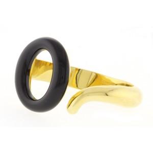 Tiffany & Co. Elsa Peretti 18K Yellow Gold Sevillana Black Jade Bracelet