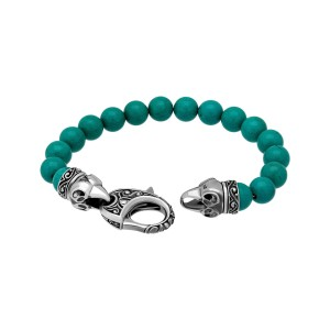 Stephen Webster 925 Sterling Silver Oxidised Turquoise Beads London Calling Bracelet