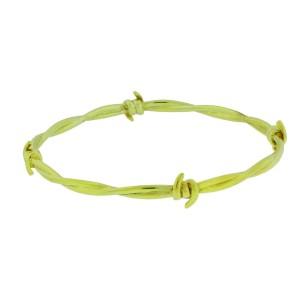 Stephen Webster 925 Sterling Silver & Gold Plated Forget Me Knot  Barb Wire Bangle Bracelet