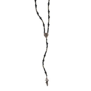 Stephen Webster 925 Sterling Silver No Regrets Cross & Dagger Rosary Bead Necklace