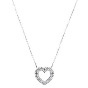 Tiffany & Co. Platinum Metro Heart 0.29ct. Diamond Necklace