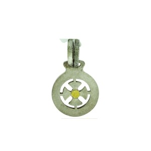 Gurhan 925 Sterling Silver With Yellow Gold Accent  Raw Life Small Cross Pendant