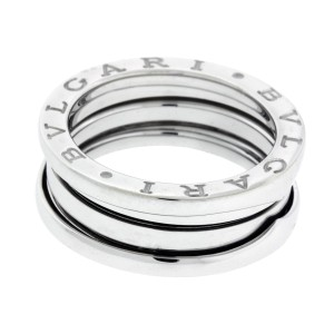 Bulgari B.Zero 1 18K White Gold 3 Band Ring Size 4.5