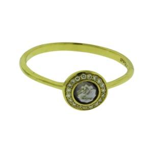 Ippolita 18K Yellow Gold with Diamonds and Iolite Mini Lollipop Ring Size 7
