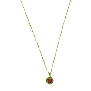 Ippolita 18K Yellow Gold with Diamond and Ruby Mini Lollipop Pendant Necklace