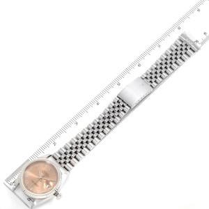 Rolex Datejust 36 Salmon Roman Dial Steel Mens Watch 16220