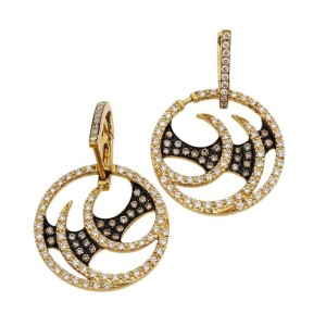 Stephen Webster Vortex 18K Yellow Gold Diamond Hoop Earrings