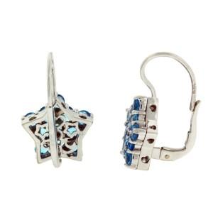 Pasquale Bruni 18K White Gold Blue Topaz Earrings