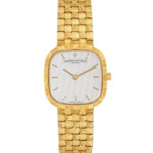 Vacheron Constantin 18K Yellow Gold Silver Dial Cocktail Ladies Watch