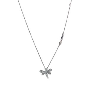 Roberto Coin 18K White Gold & 0.44ctw. Diamond Treasures Dragonfly Pendant Necklace