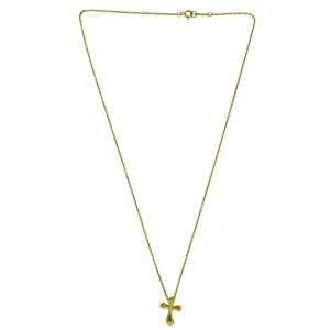 3e7570e23c853 Tiffany & Co. Elsa Peretti 18K Yellow Gold Cross Pendant Necklace