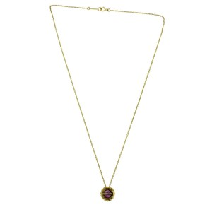 Tiffany & Co. 18K Yellow Gold with Amethyst Pendant Necklace