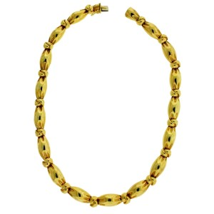 Van Cleef & Arpels 18K Yellow Gold Choker Necklace
