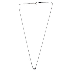 Tiffany & Co. Elsa Peretti PT950 Platinum with 0.12ct Solitaire Diamond By the Yard Necklace
