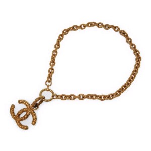 Chanel CC Mark Gold Tone Hardware Necklace