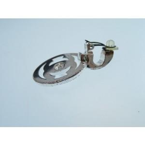 Chanel Silver Tone Hardware Clip on Earrings
