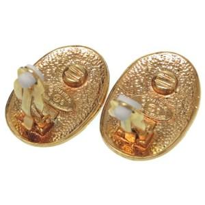 Chanel Gold Tone Hardware Coco Mark Earrings