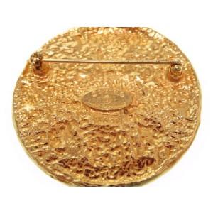 Chanel CC Mark Gold Tone Hardware Vintage Brooch
