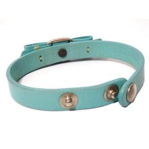 Salvatore Ferragamo Silver Tone Hardware & Leather Ribbon Vala Blur Scrapes Bracelet