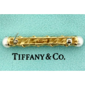 Tiffany & Co. 18K Yellow Gold with Cultured Pearl Pin Brooch