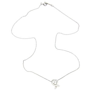 Tiffany & Co. Paloma Picasso 925 Sterling Silver Loving Heart Pendant Necklace