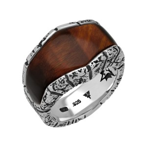 Stephen Webster 925 Sterling Silver & Bull's Eye Inlay Highwayman Ring Size 11