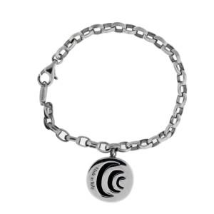 Damiani Damianissima 925 Sterling Silver 0.03ctw. Diamond & Onyx Bracelet