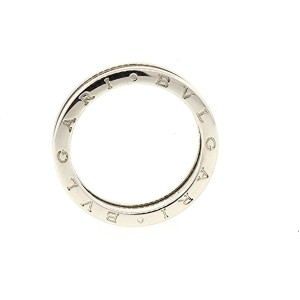 Bulgari B.Zero 1 18K White Gold Wedding Band Ring Size 11.75