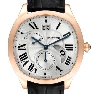 Cartier Drive Retrograde Rose Gold Chronograph Mens Watch WGNM0005