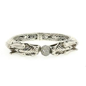 John Hardy Sterling Silver Diamond Bracelet