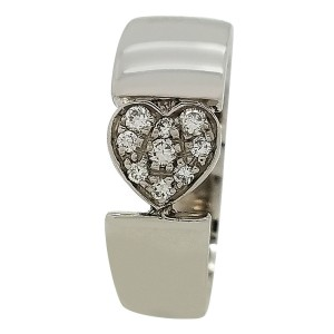 Piaget Juliet 18K White Gold with Diamond Ring Size 5
