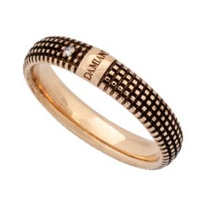 Damiani 18K Rose Gold Diamond Ring Size 10.5