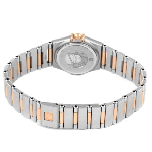 Omega Constellation Mini Steel Rose Gold Diamond Watch 1360.76.00 Box Card