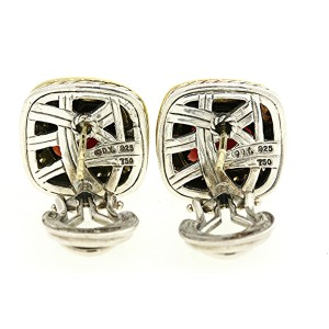 David Yurman Sterling Silver Diamond Earrings