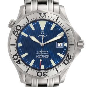 Omega Seamaster Titanium Blue Dial Mens Watch 2231.80.00