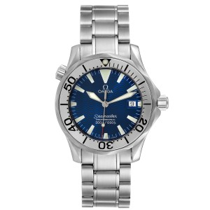 Omega Seamaster Electric Blue Wave Dial Midsize Watch 2263.80.00