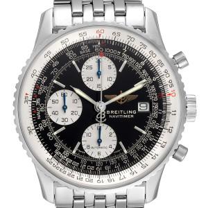 Breitling Navitimer II Black Dial Chronograph Steel Mens Watch A13322