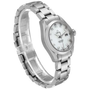 Omega Aqua Terra Steel MOP Diamond Ladies Watch 231.10.30.61.55.001 Unworn