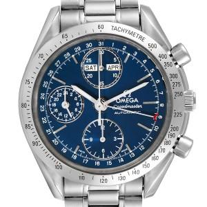 Omega Speedmaster Day Date Blue Dial Steel Mens Watch 3521.80.00