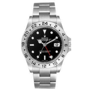 Rolex Explorer II Black Dial Parachrom Hairspring Mens Watch 16570