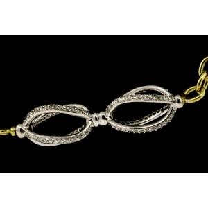 """David Yurman Lantana Figaro Diamond Station 18k Gold Chain Necklace 40"""" RARE"""
