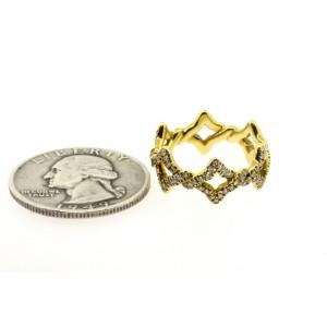 David Yurman Diamond Ring Venetian Quatrefoil Eternity Band 18k Gold 5.75
