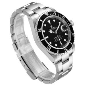 Rolex Submariner Black Dial Stainless Steel Mens Watch 16610