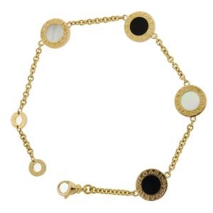 Bulgari Bulgari 350641 onyx & mother of pearl element bracelet 18k rose gold