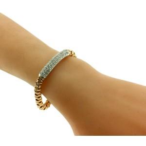 Roberto Coin 18k rose gold Appassionata pave diamond bar Bracelet