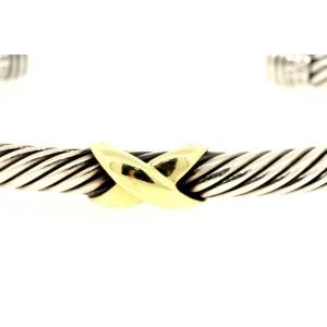 David Yurman Bracelet X Center Station Cuff Bracelet 5mm Classic Cable