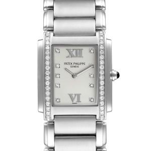 Patek Philippe Twenty-4 Stainless Steel Diamond Ladies Quartz Watch