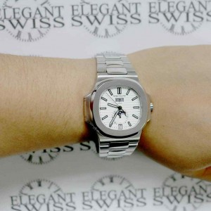 Patek Philippe Complications Nautilus 41mm Automatic Steel Watch Box Papers 5726